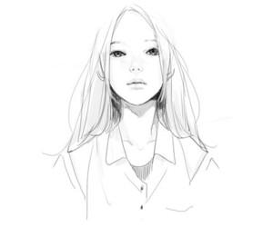 girl, drawing, and anime image