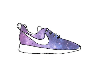 nike, galaxy, and overlay image