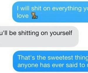 love, funny, and text image