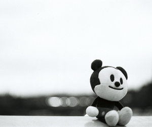 black, toy, and black and white image