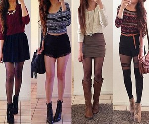 autumn, booties, and clothes image