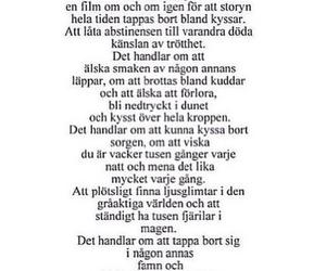 quotes, svenska, and kärlek image