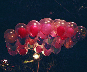 balloons, colors, and night image