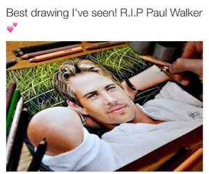 drawing, paul walker, and amazing image