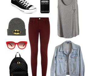 outfit, batman, and converse image
