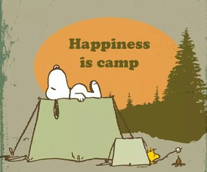 snoopy, camp, and camping image