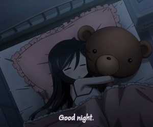 girl, good night, and cute image