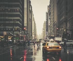 new york, city, and rain image