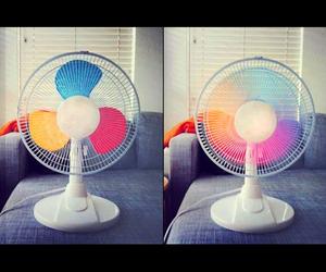 diy, fan, and rainbow image