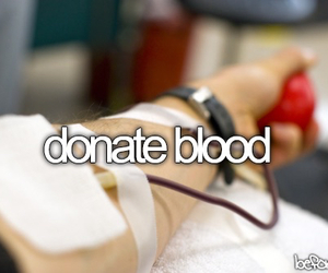 before i die, blood, and donation image