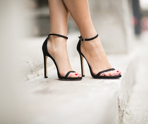 black heels, heels, and high heels image