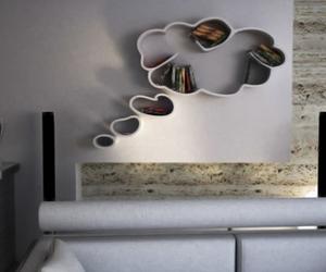 book, bookshelf, and design image