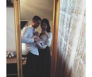 baby, fashion, and hijab image