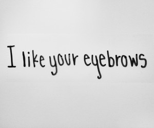 eyebrows, funny, and girls image