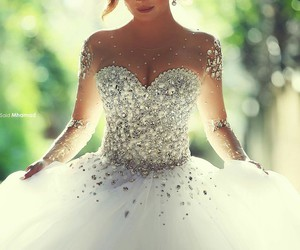 abito, sposa, and dress image