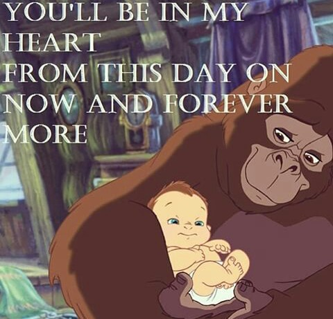 tarzan, you'll be in my heart, and love image