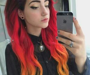 colorful, ombre, and orange image