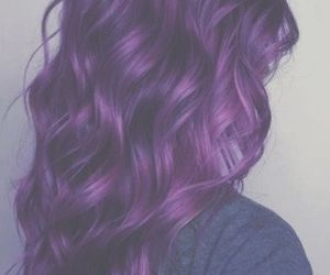 colorful, hair, and purple hair image