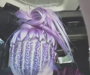 braids, purple hair, and colorful image