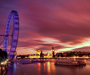 london, london eye, and photography image