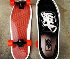vans, skate, and shoes image