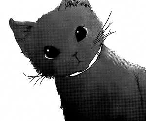 black and white, cat, and neko image