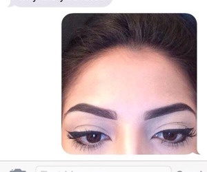 funny, makeup, and eyebrows image