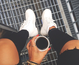 fashion, coffee, and shoes image