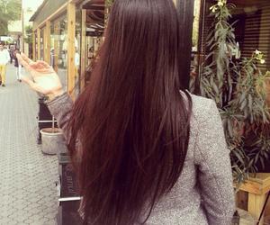 brunette, hair, and long hair image