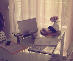 flowers, girly, and laptop image