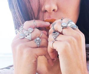 boho, rings, and bohemian image