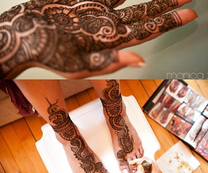 arabic, henna, and mehendi image