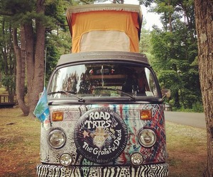 hippie, travel, and vans image