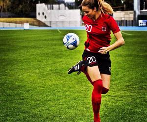 football and albanian girl image