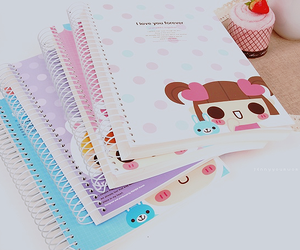 cute, kawaii, and notebook image
