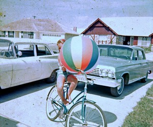 beach ball and vintage image
