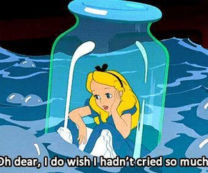 alice, alice in wonderland, and cry image