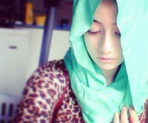 blue, hijab, and turquoise image