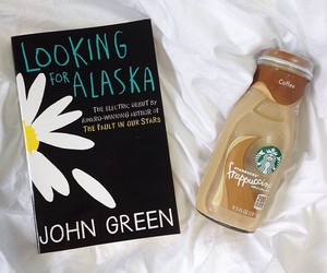 book, starbucks, and john green image