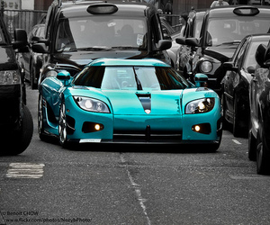 turquoise and car image