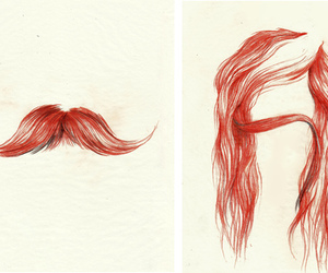 hair, mustache, and moustache image