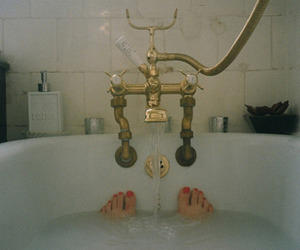 feet, bath, and bathtub image