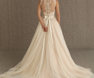 wedding dress, lace, and perfect image