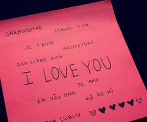 hearts, I Love You, and languages image