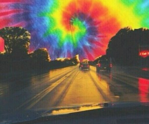 colors, tie dye, and trippy image