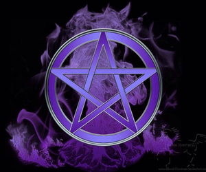 witchcraft, wicca, and pentagramm image