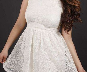 dress, blanco, and moda image
