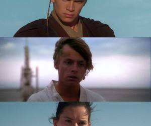 star wars, LUke, and anakin image