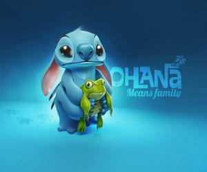 stitch, ohana, and disney image