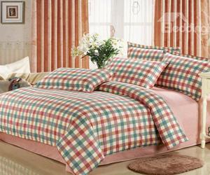 warm-toned, plaid print, and bedding sets image